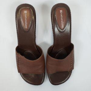 Naturalizer 9M Women's Brown Slip On Clog
